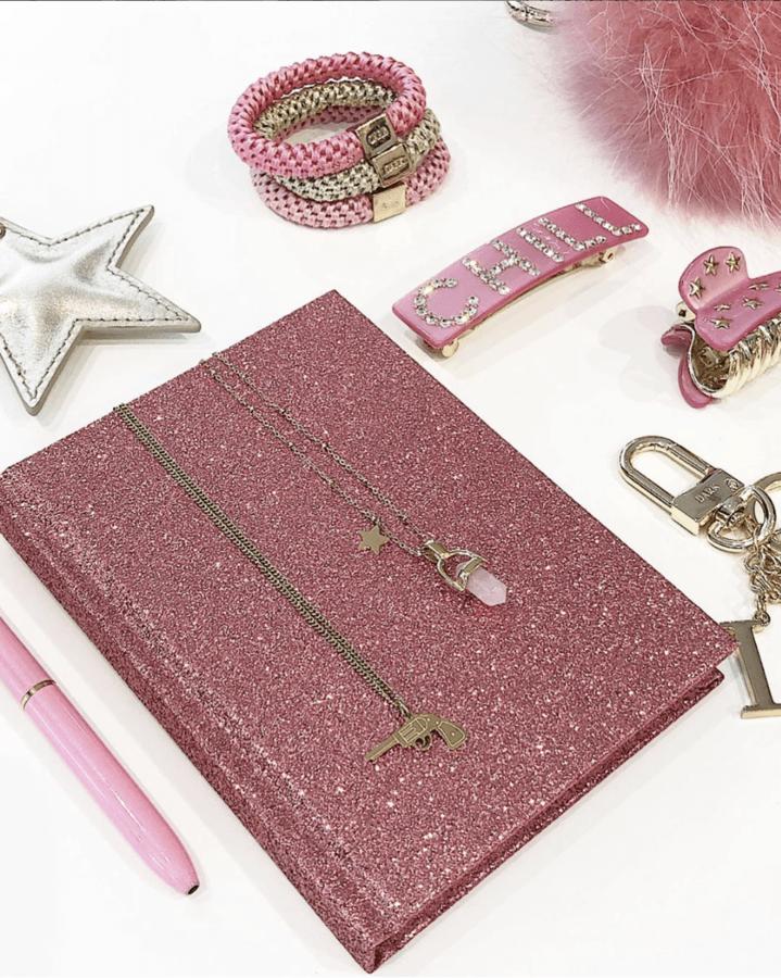 DARK Glitter Notebook A5 Pink