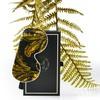 Fan Palm Sleeping Eye Mask Silk Tropical Black 20 x 10 cm