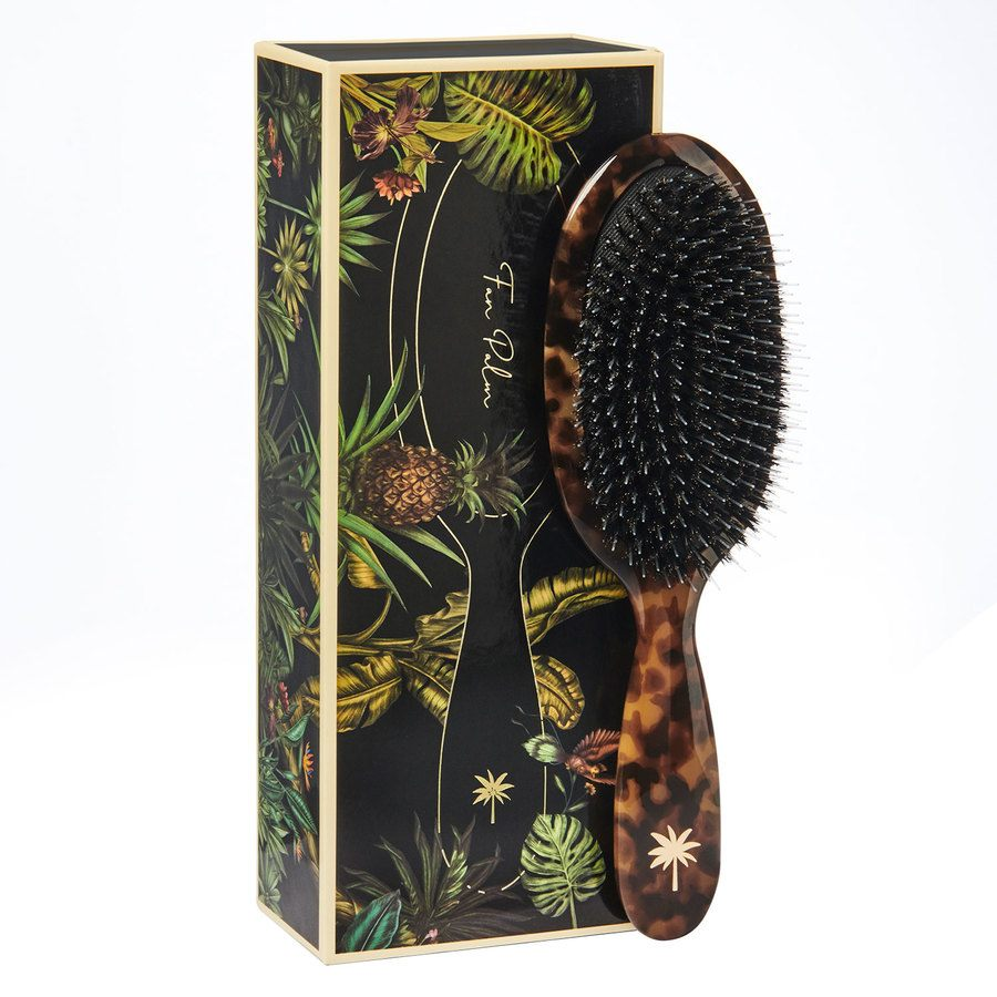 Fan Palm Boar & Nylon Brush Medium, Turtle