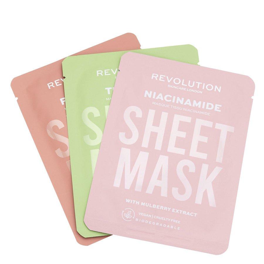 Revolution Beauty Revolution Skincare Biodegradable Oily Skin Sheet Mask 3St.
