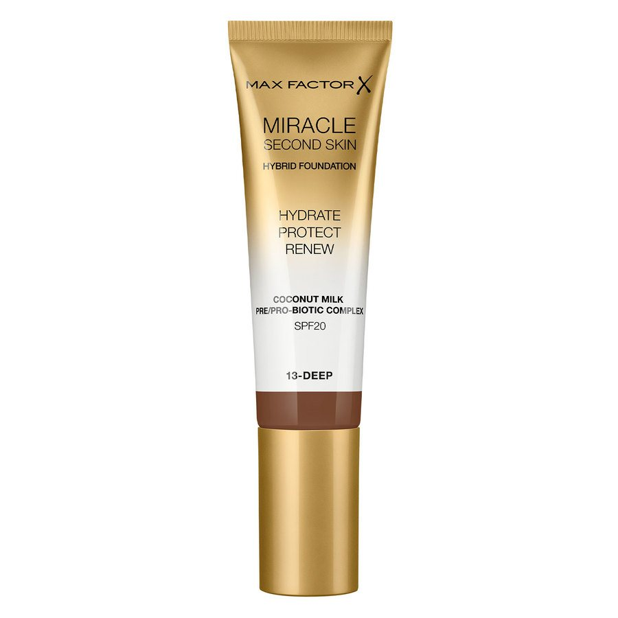 Max Factor Miracle Second Skin Foundation, #013 Deep (33 ml)