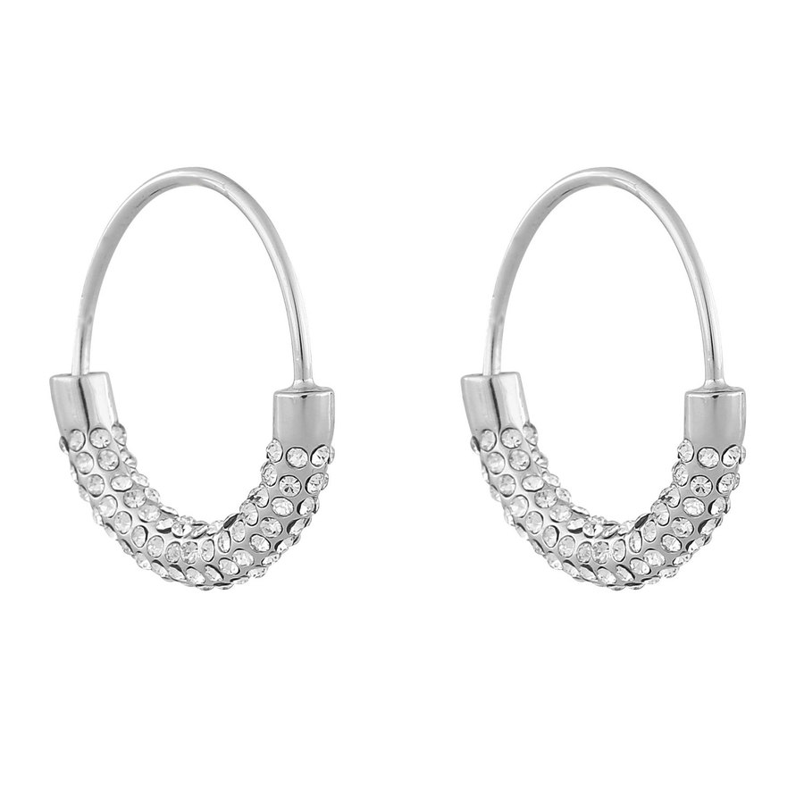 Snö Of Sweden Anglais Ring Earring, Silver/Clear