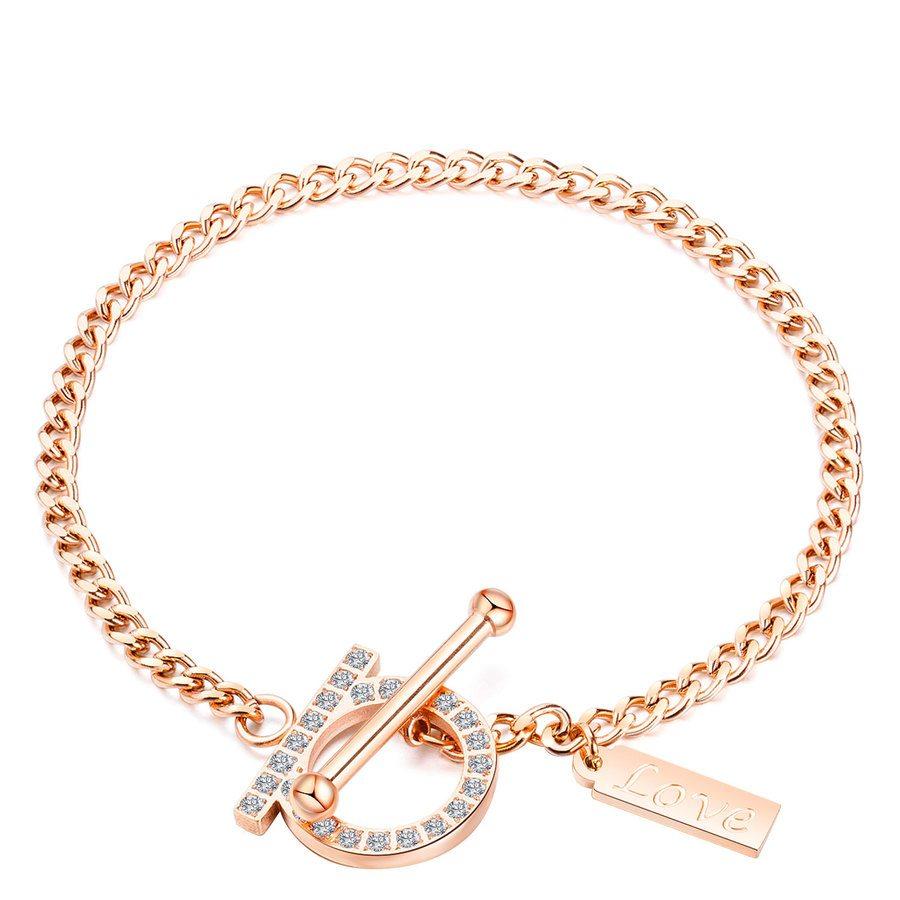 Shelas Armband aus Edelstahl, Rosegold