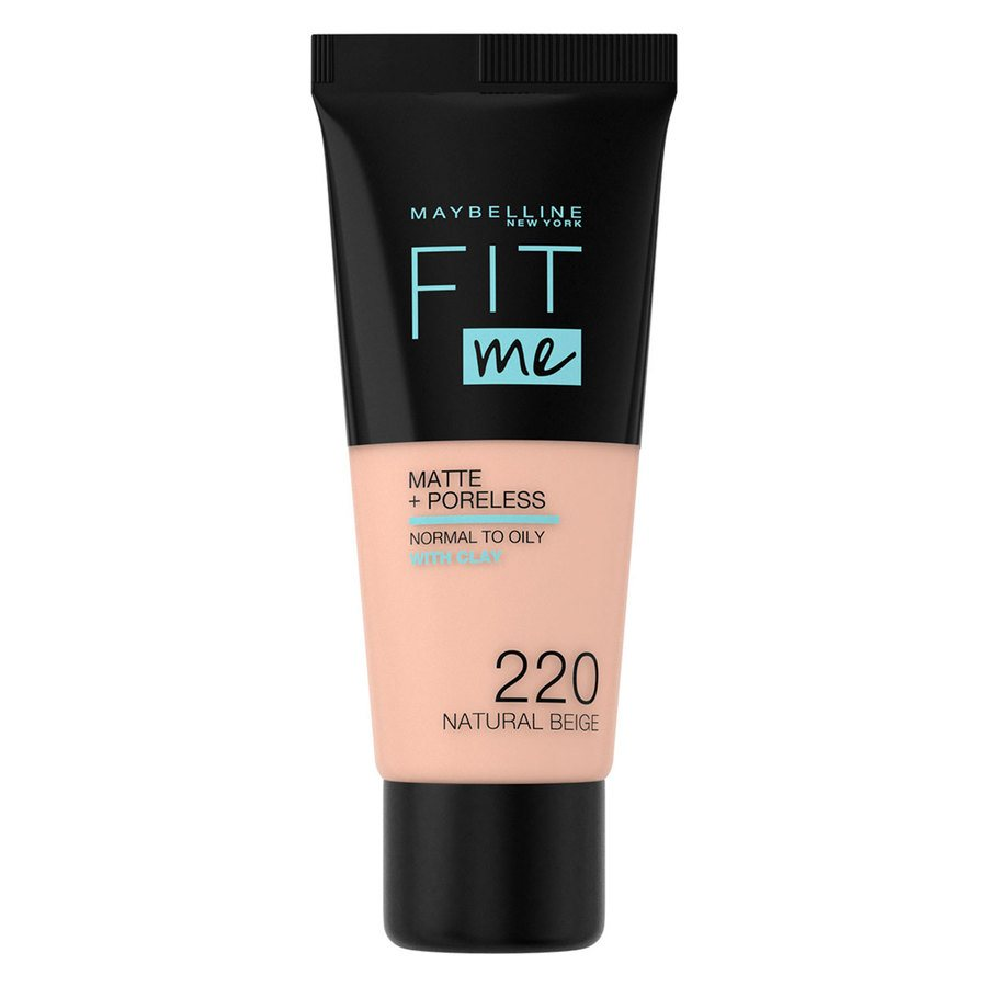 Maybelline Fit Me Makeup Matte + Poreless Foundation, 220 (30ml Tube)