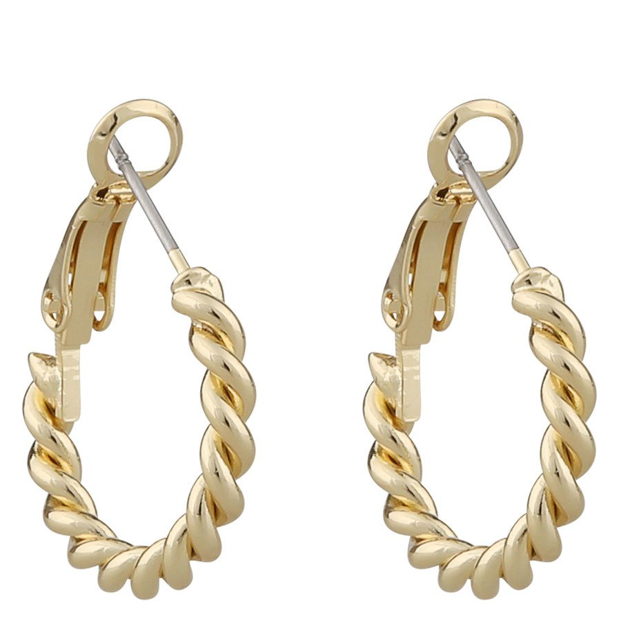 Snö Of Sweden Way Small Ring Earring, Plain Gold