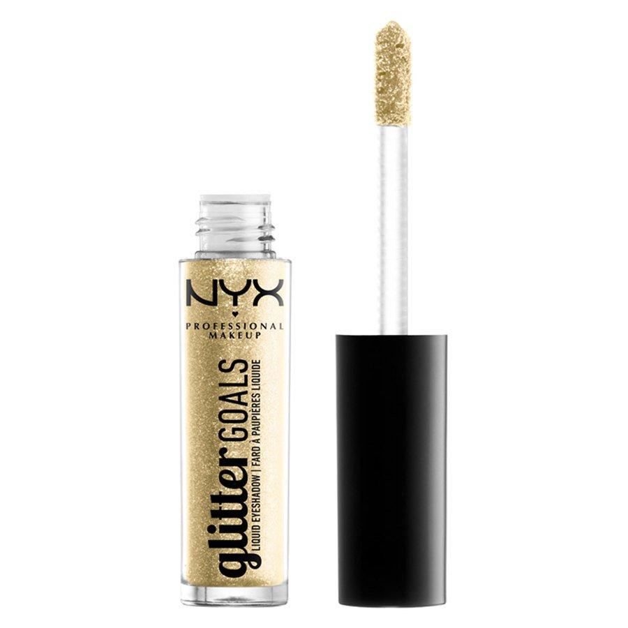 NYX Professional Makeup Glitter Goals Liquid Eyeshadow, Shade 5 Gold (3,5 g)