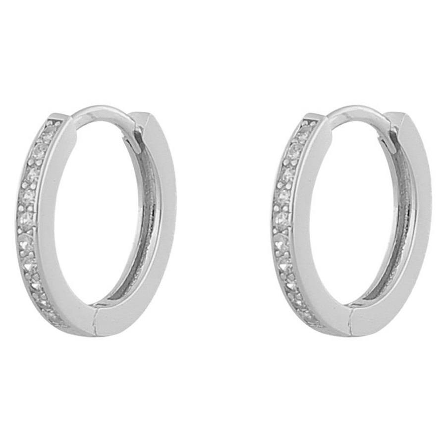 Snö Of Sweden Camille Ring Ohrring Silver/Clear