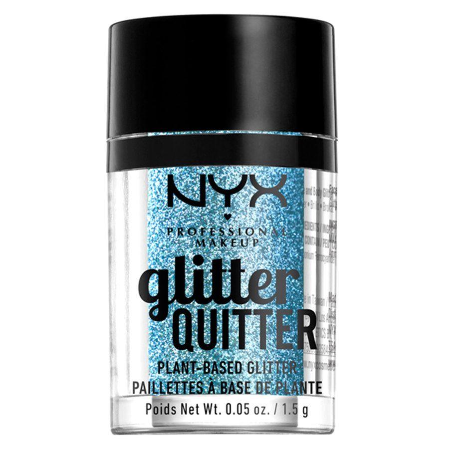 NYX Professional Makeup Glitter Quitter Plant Based Glitter, Blue (1,5g)