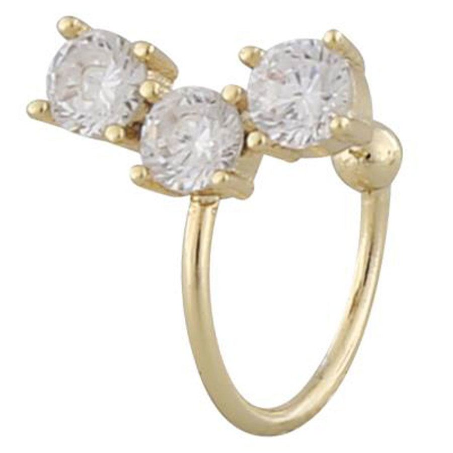Snö Of Sweden Camille Big Cuff Ohrring (1 Stck.), Gold/Clear