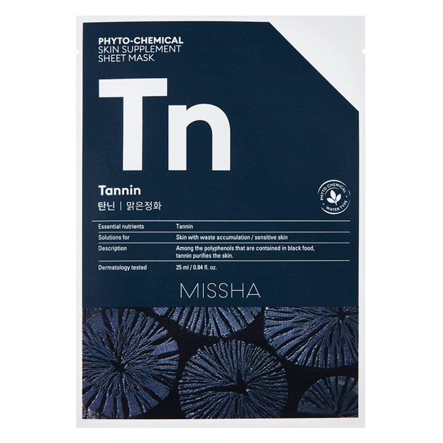 Missha Phytochemical Skin Supplement Sheet Mask, Tannin (25ml)