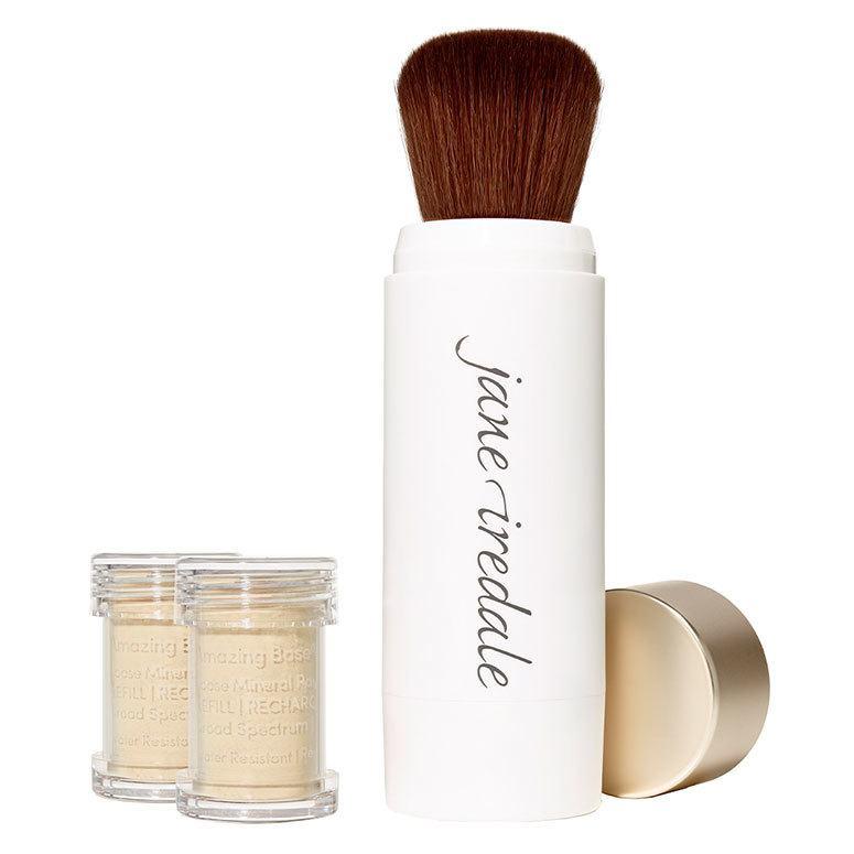 Jane Iredale Amazing Base Refillable Brush, Bisque 2x Refills