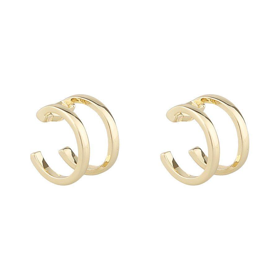 Snö Of Sweden Mette Cuff Earrings Plain Gold