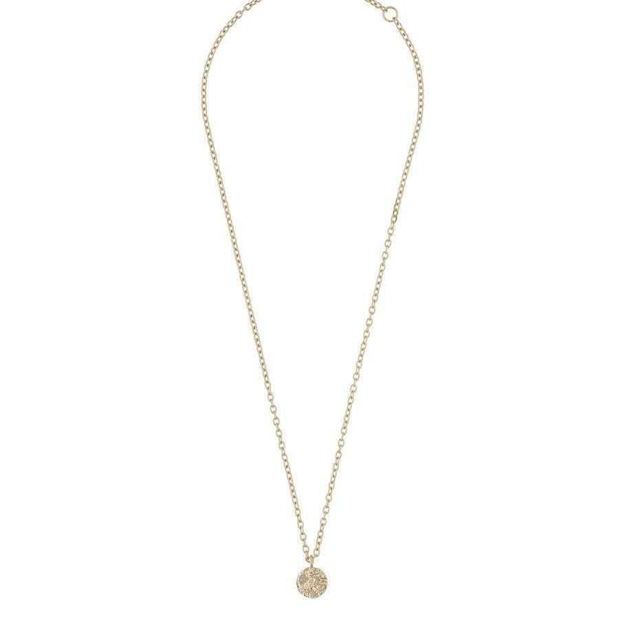 Snö Of Sweden Rue, Halskette mit Münzanhänger (40cm), Plain Gold