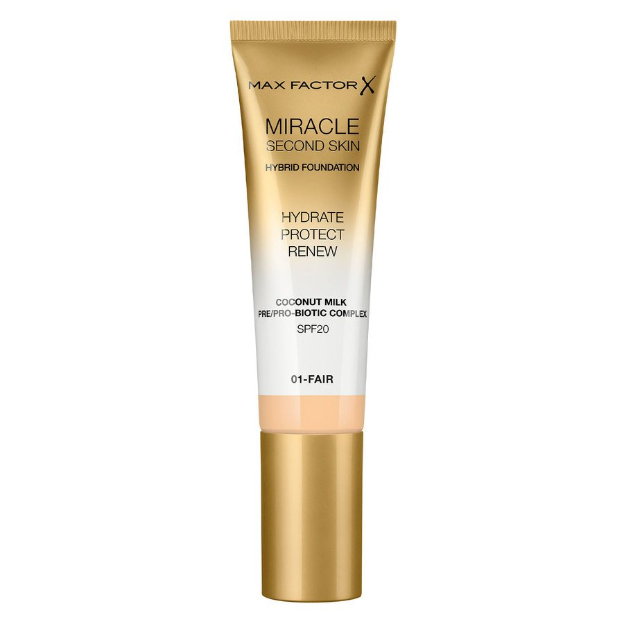 Max Factor Miracle Second Skin Foundation, #001 Fair (33 ml)