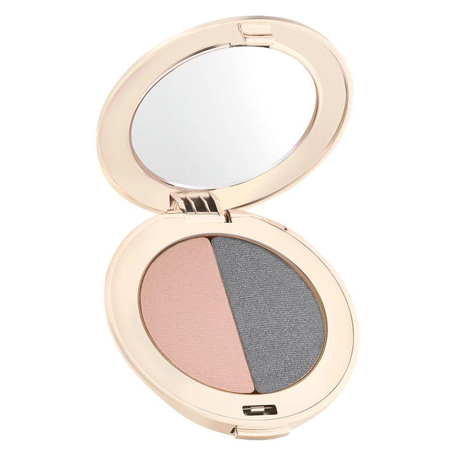 Jane Iredale PurePressed Duo Eye Shadow, Hush/Smokey Grey 2,8 g