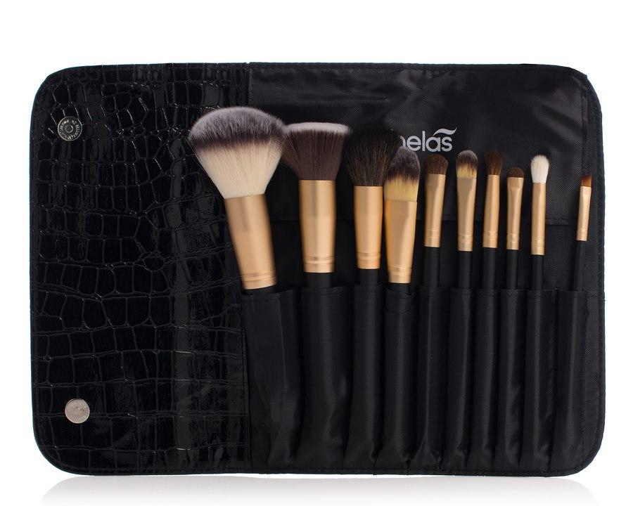 Shelas 10-teiliges Make-up-Pinselset