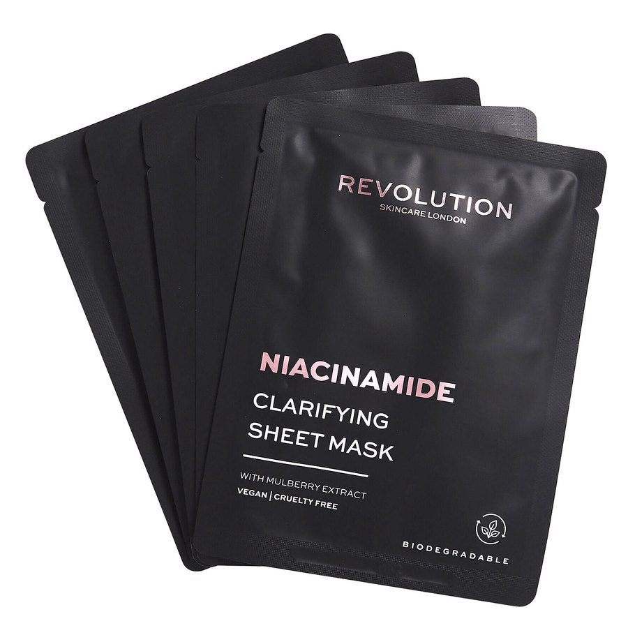 Revolution Beauty Revolution Skincare Biodegradable Clarifying Niacinamide Sheet Mask 5St.
