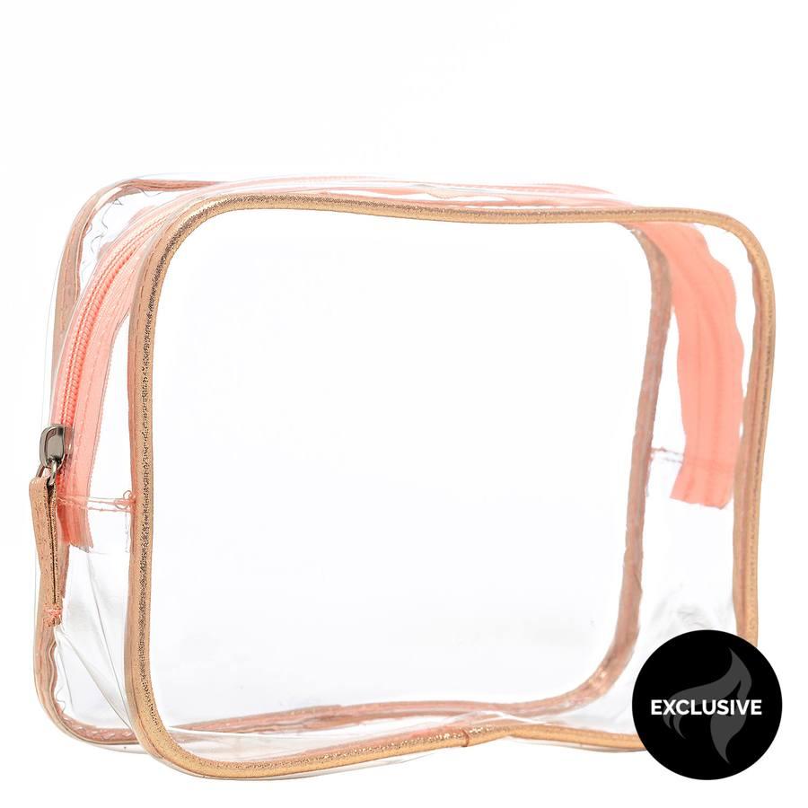 Shelas Kosmetiktasche, transparent / rosa
