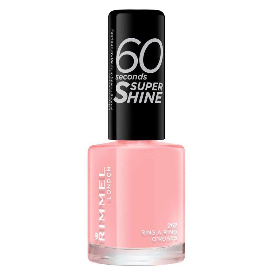 Rimmel London 60 Seconds Super Shine Nail Polish, # 262 Ring A Ring O'roses (8 ml)