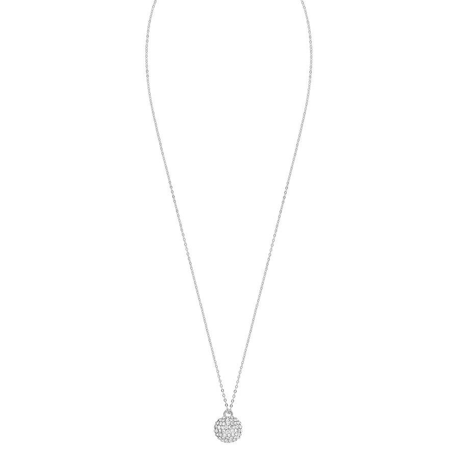 Snö Of Sweden Zin Pendant Neck 60, Silver/Clear
