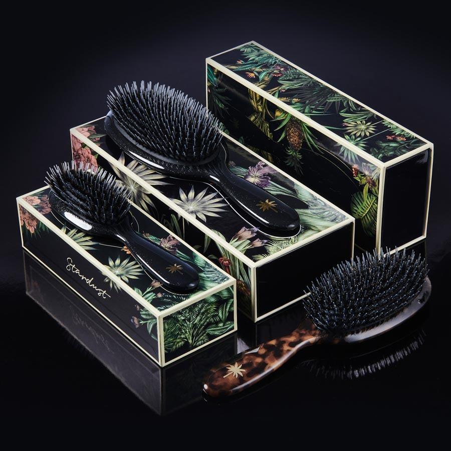 Fan Palm Boar & Nylon Brush Large, Stardust
