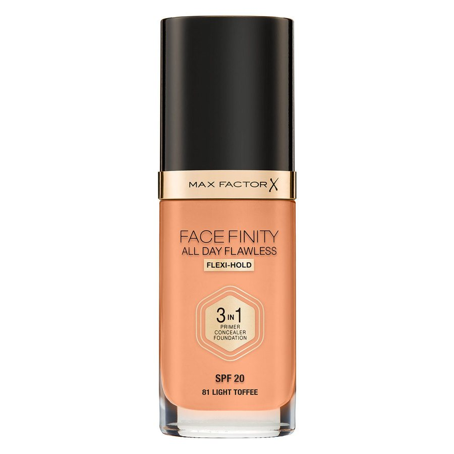 Max Factor Facefinity All Day Flawless 3-In-1 Foundation, N81 Light Toffee (30 ml)