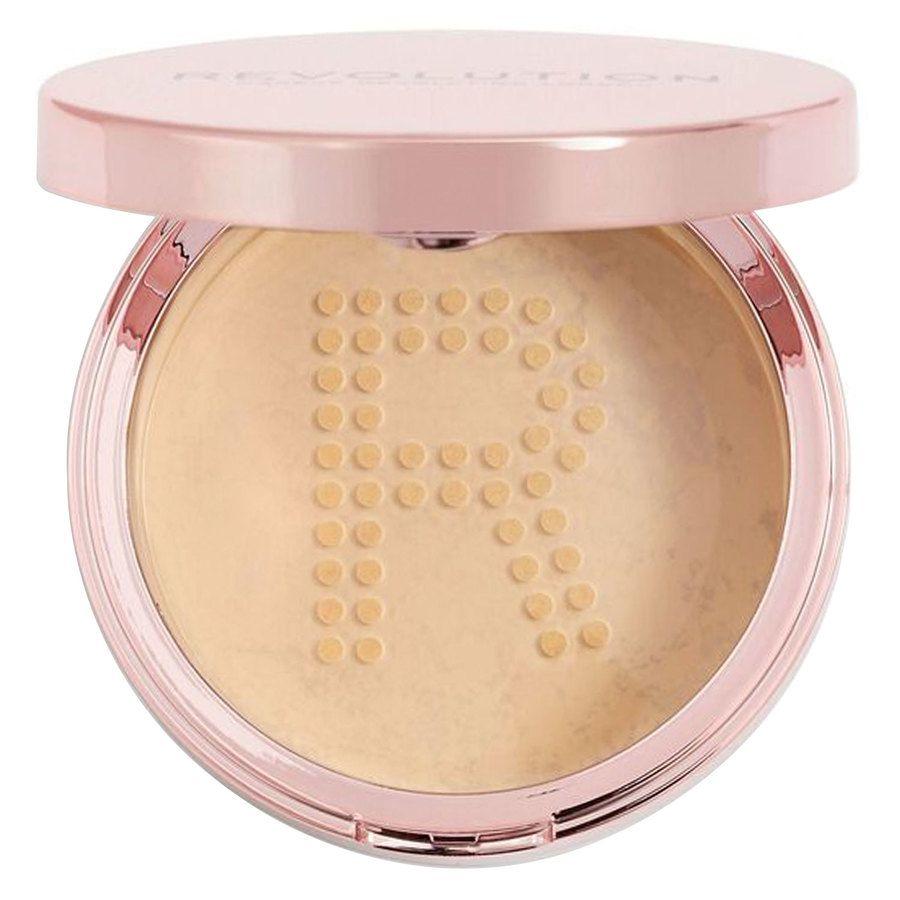Makeup Revolution Conceal & Fix Setting Powder, Medium Yellow (13 g)