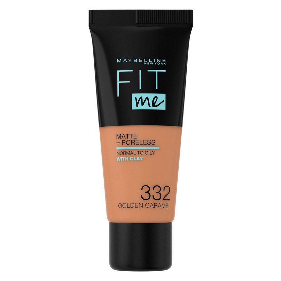 Maybelline Fit Me Matte + Poreless Foundation, Golden Caramel (30 ml)