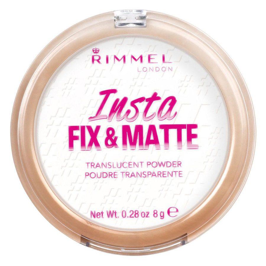 Rimmel London Insta Fix And Matte Powder, # 001 Translucent (8 g)