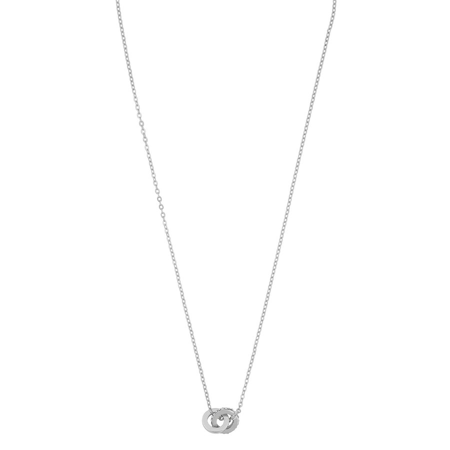 Snö Of Sweden Connected Pendant Necklace, Silver/Clear (42 cm)