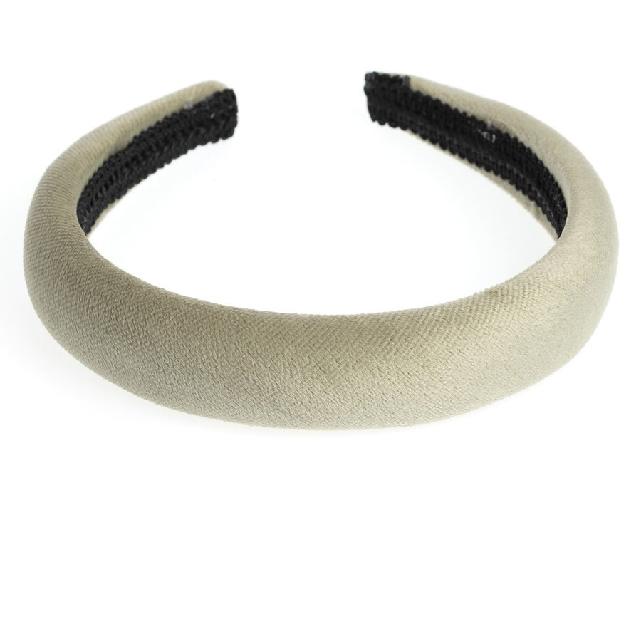 DARK Velvet Hairband, Broad Faded Army