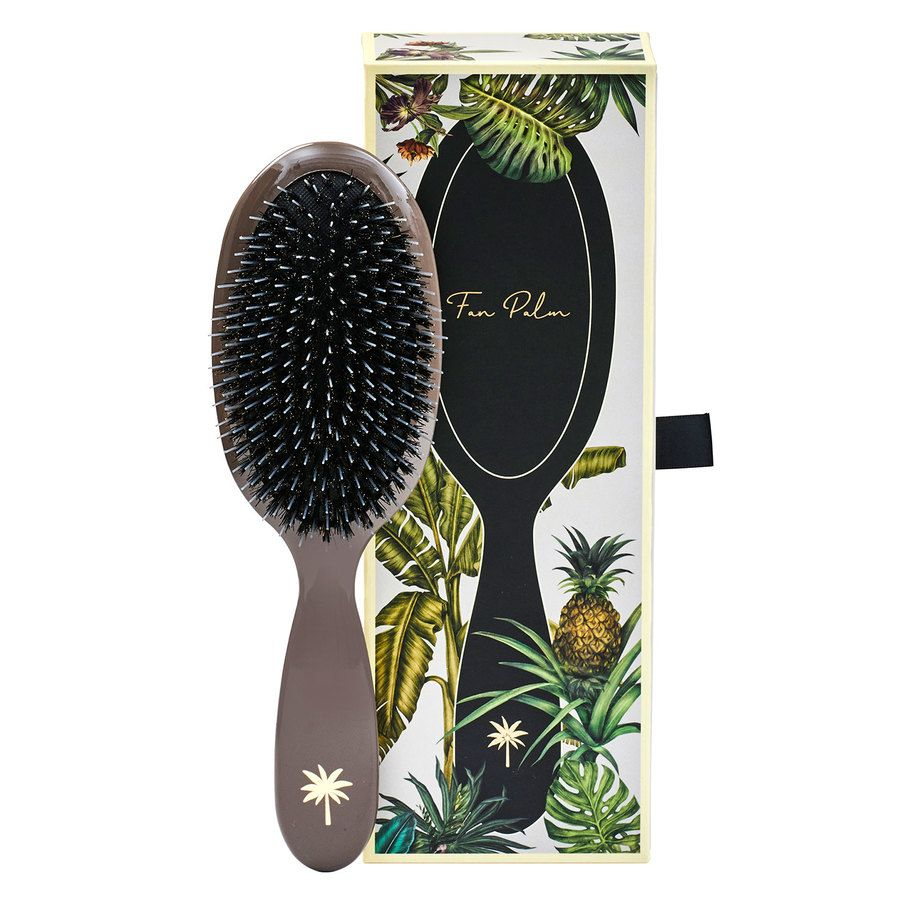 Fan Palm Boar & Nylon Brush Medium, Mink