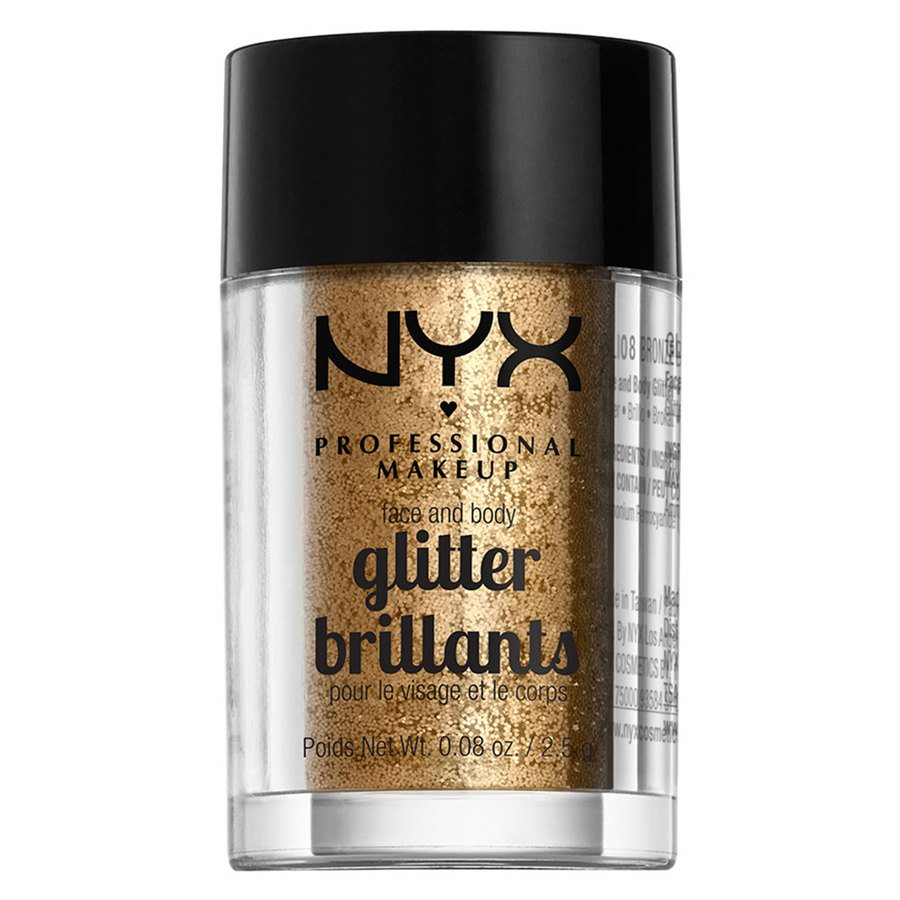 NYX Professional Makeup Face And Body Glitter Brilliants, Bronze GLI08 (2,5 g)