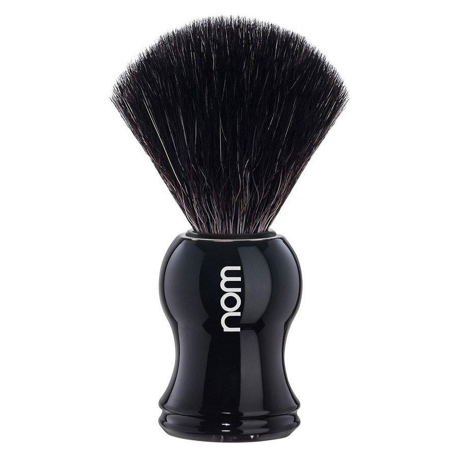 Nom Gustav Black Fibre Shaving Brush, Black 1St.