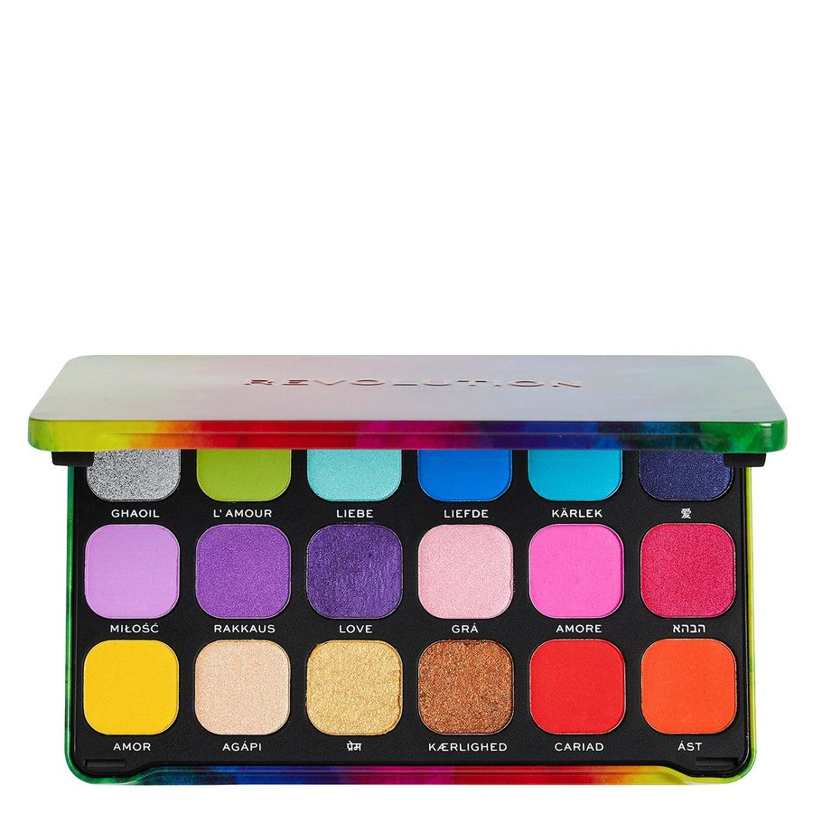 Makeup Revolution Forever Flawless We Are Love Palette (18 x 1,1 g)