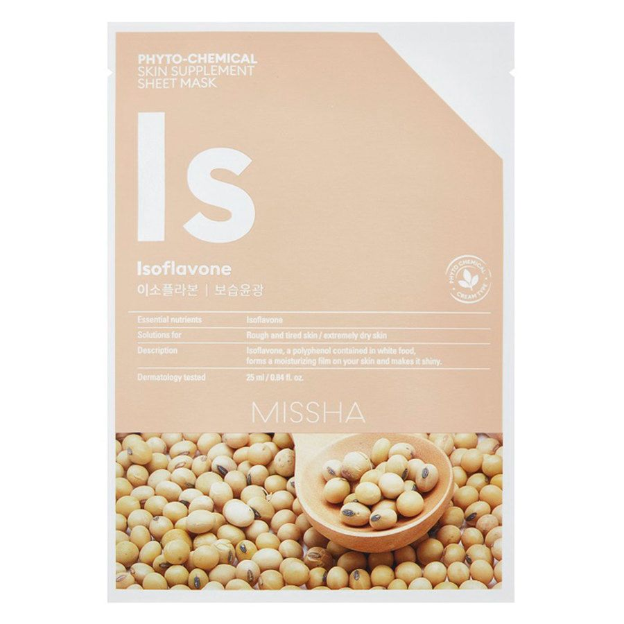 Missha Phytochemical Skin Supplement Sheet Mask, Isoflavone (25ml)