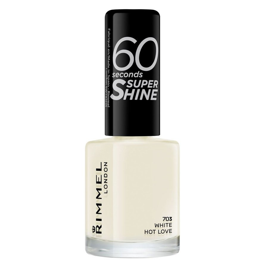 Rimmel London 60 Seconds Super Shine Nail Polish, # 703 White Hot Love (8 ml)