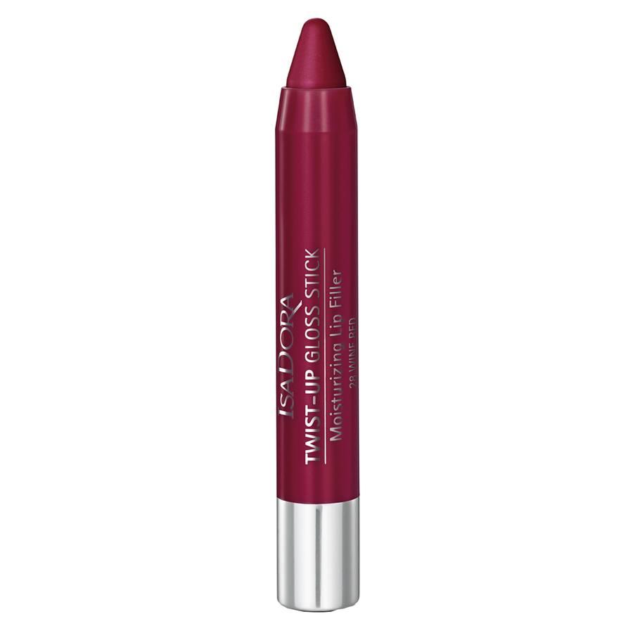 IsaDora Twist-Up Gloss Stick, 28 Wine Red (3,3 g)