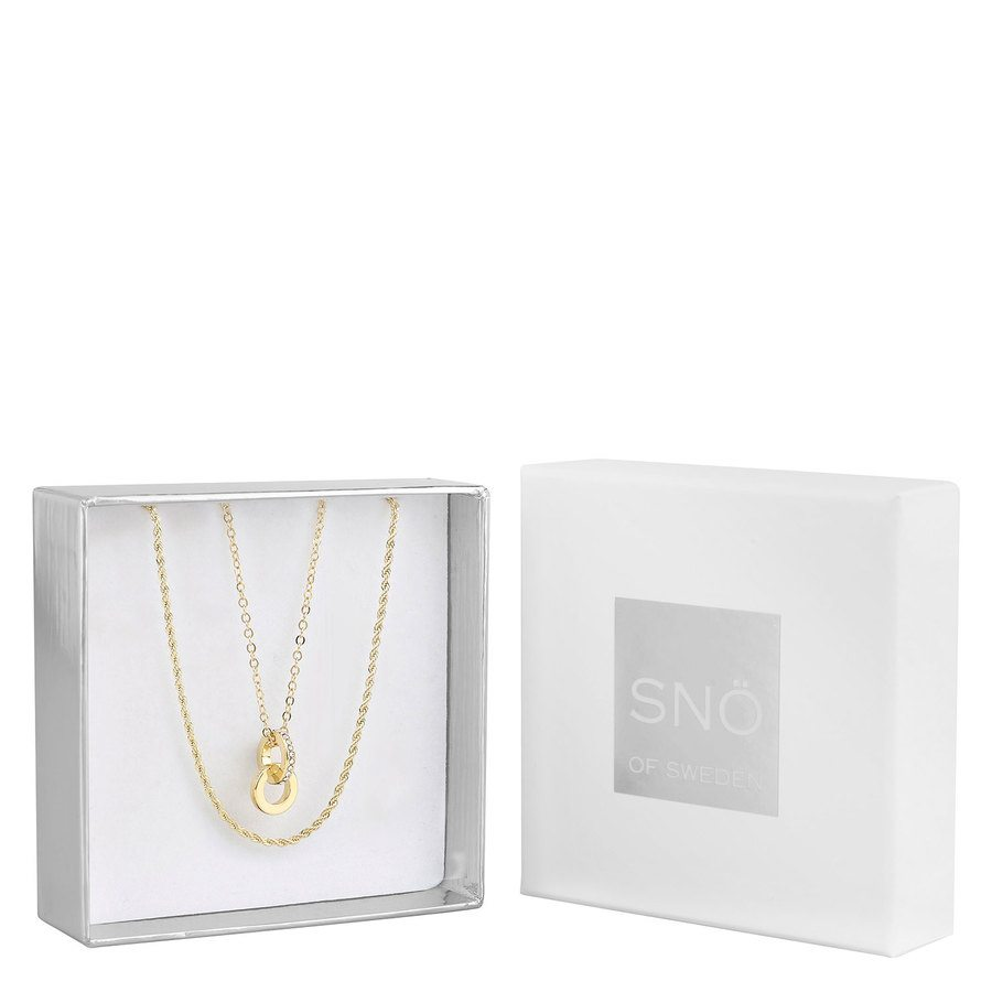 Snö of Sweden Crystal Royal Pendant Necklace Set, Gold / Clear