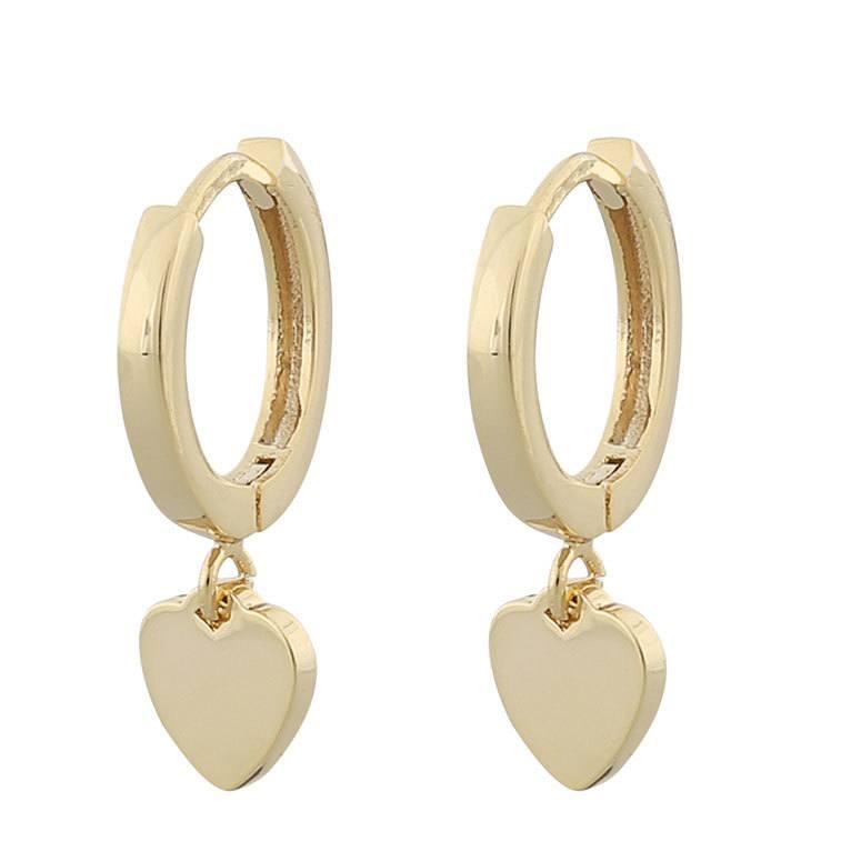 Snö Of Sweden Vital Small Ring Earring, Plain Gold 21 mm