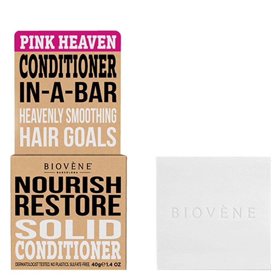 Biovène Hair Care Conditioner Bar Nourish Restore, Pink Heaven 40 g