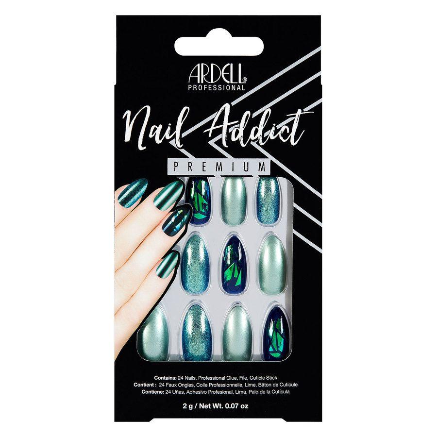 Ardell Nail Addict, Green Glitter Chrome 1St.