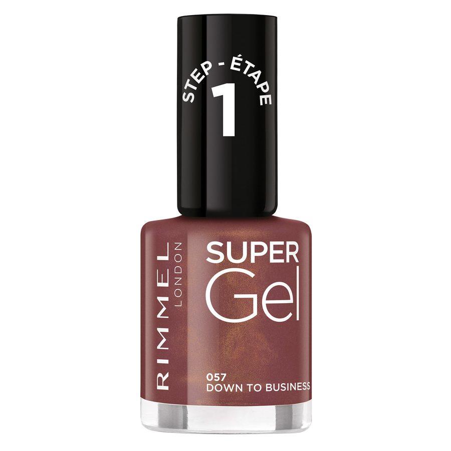 Rimmel London Super Gel Nail Polish, 057 Down To Business (12 ml)