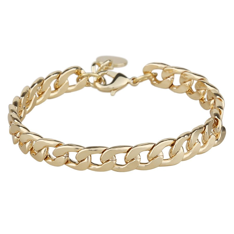 Snö Of Sweden Chase Mario Medium Bracelet, Plain Gold