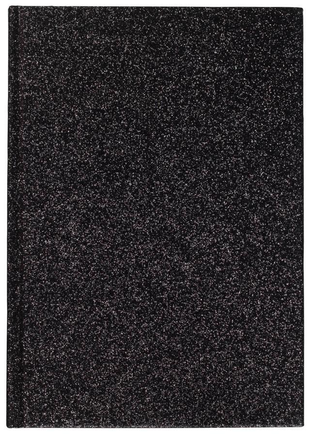 DARK Glitter Notebook A5 Black
