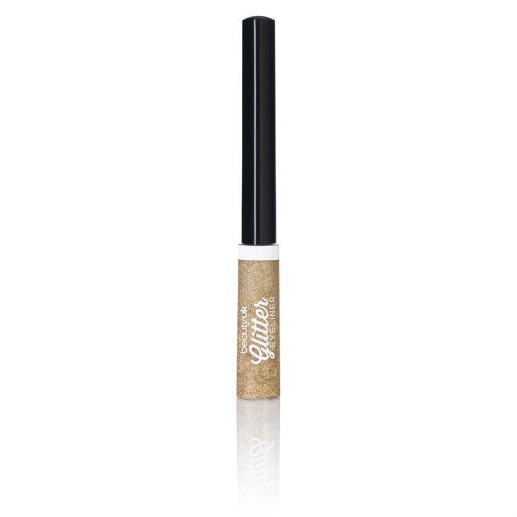 Beauty UK Glitter Liquid Eyeliner, No. 2 Gold
