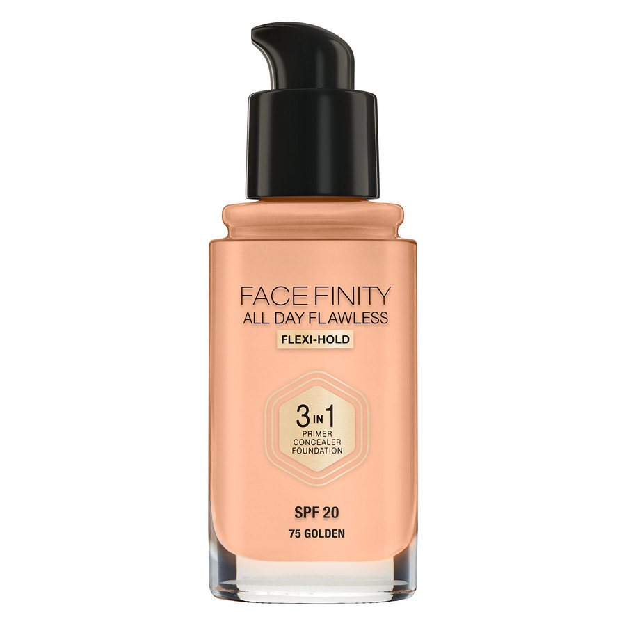 Max Factor Facefinity All Day Flawless 3-In-1 Foundation, #75 Golden (30ml)