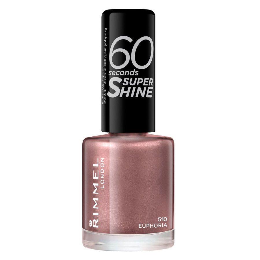Rimmel London 60 Seconds Super Shine Nail Polish, # 510 Euphoria (8 ml)