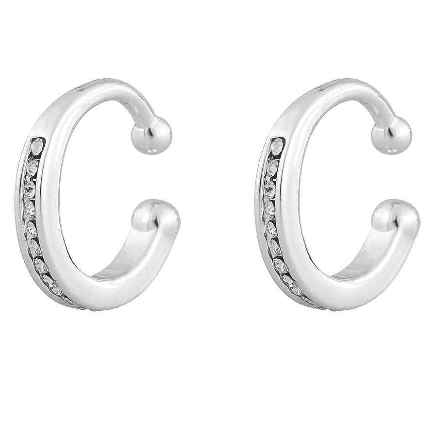 Snö Of Sweden Later Small Cuff Earring, Silver / Clear (1 Paar)