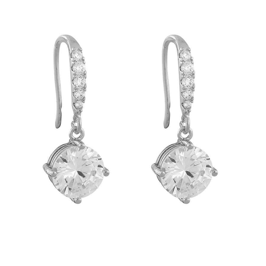 Snö Of Sweden Luire Stone Pendant Earring, Silver/Clear